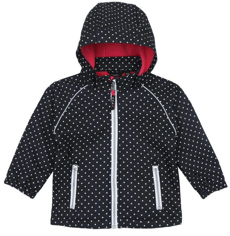 Alfa Softshell Jacket Dot Black Softshelljacka Barn