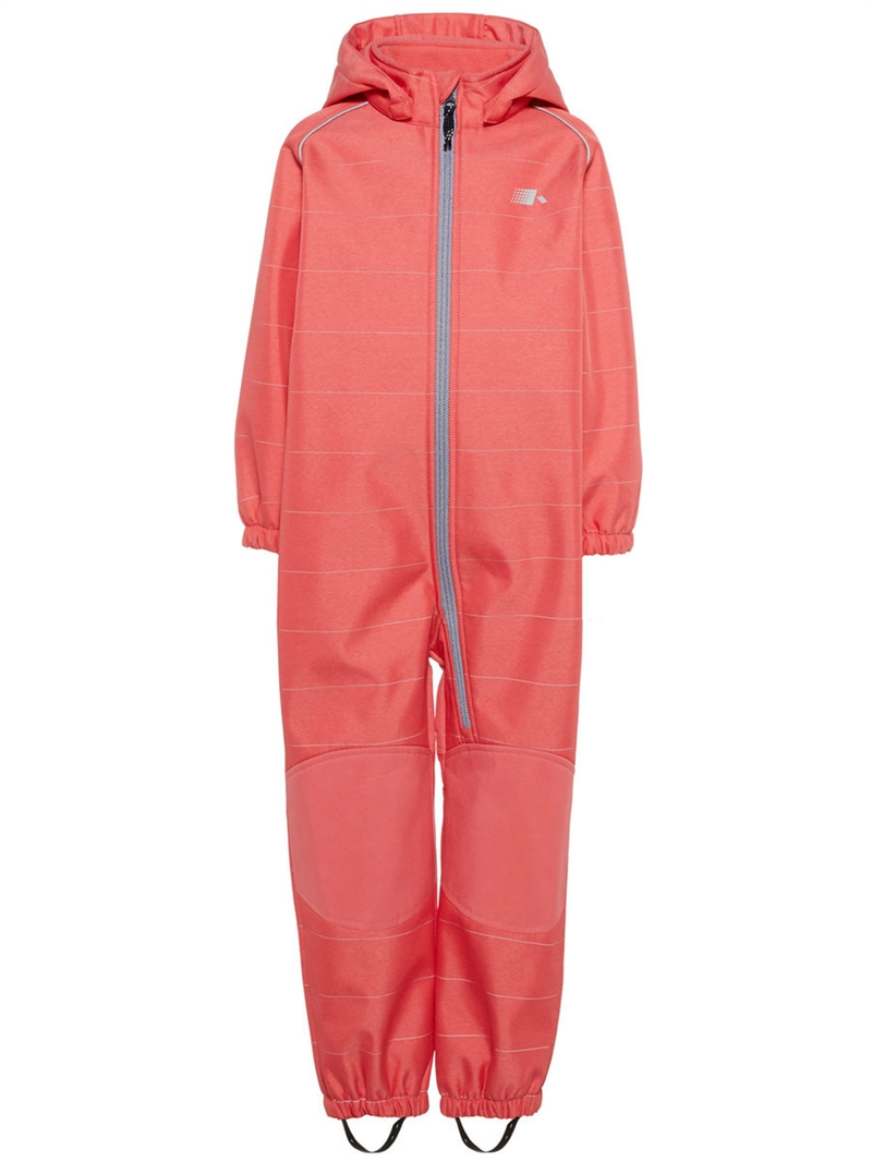 Alfa Softshell Suit Sunkist Coral Softshelloverall Mini Name it