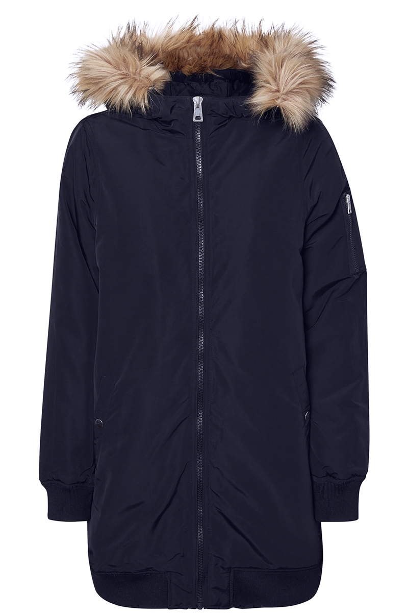 Dicte Fake Fur 3/4 Jacket Navy Blazer Vero Moda