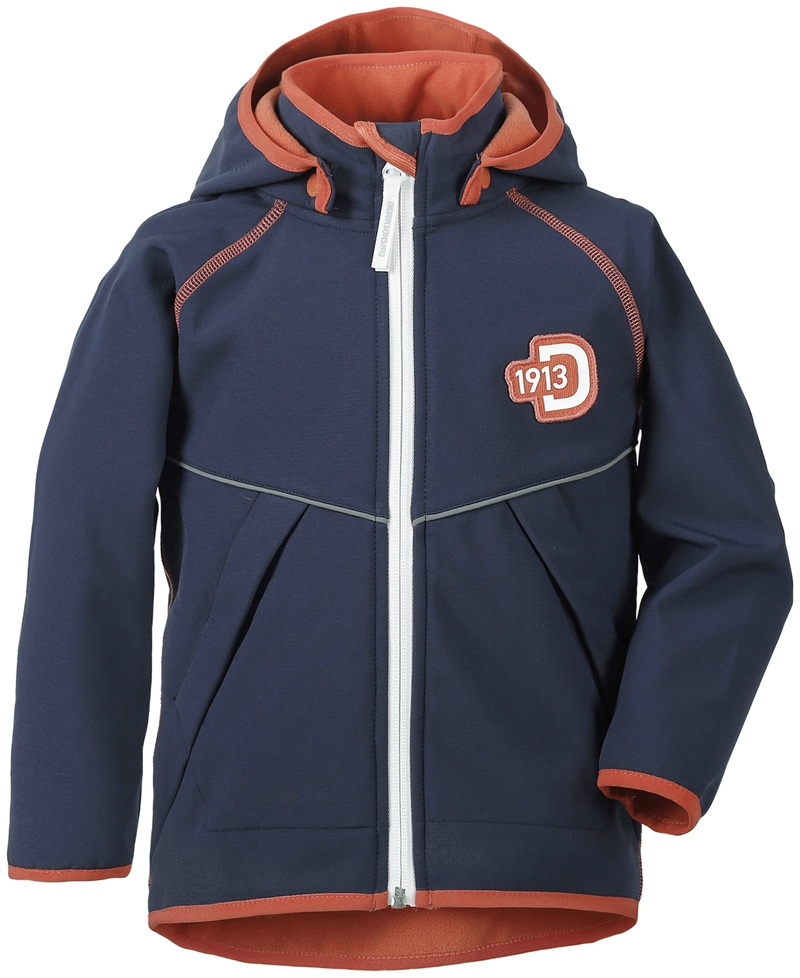 Elmån Kids Softshell Jacket Navy Barn Didriksons