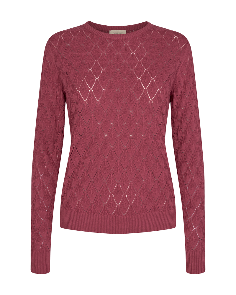 Freequent Tabbis Pullover Tröja Dam Earth Red 1