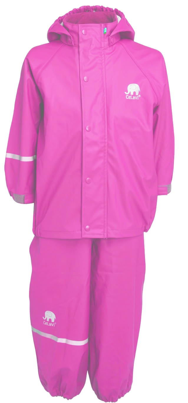 Basic Rainwear Set Cyclamen Ofodrat regnset Barn