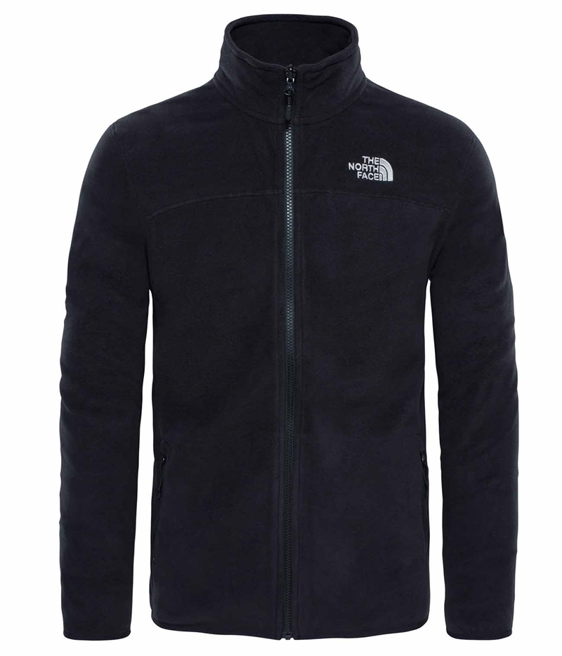 The North Face Mens 100 Glacier Fz Tnf Black The North Face Fleecejacka Herr