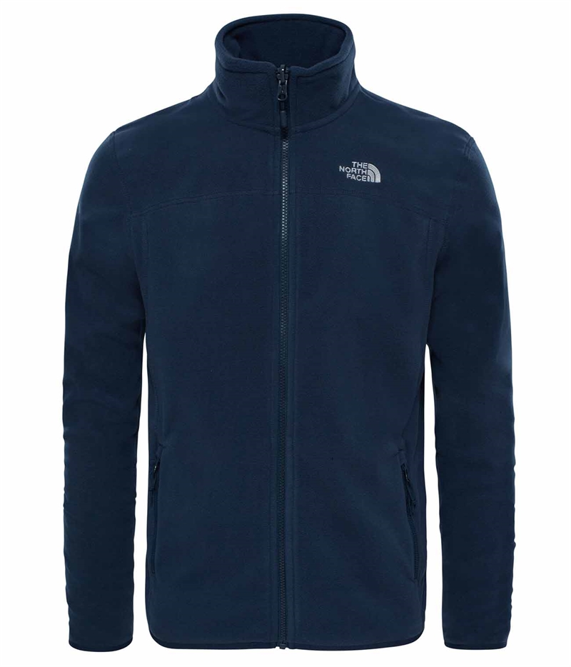 Mens 100 Glacier Fz Urban Navy The North Face Fleecejacka Herr