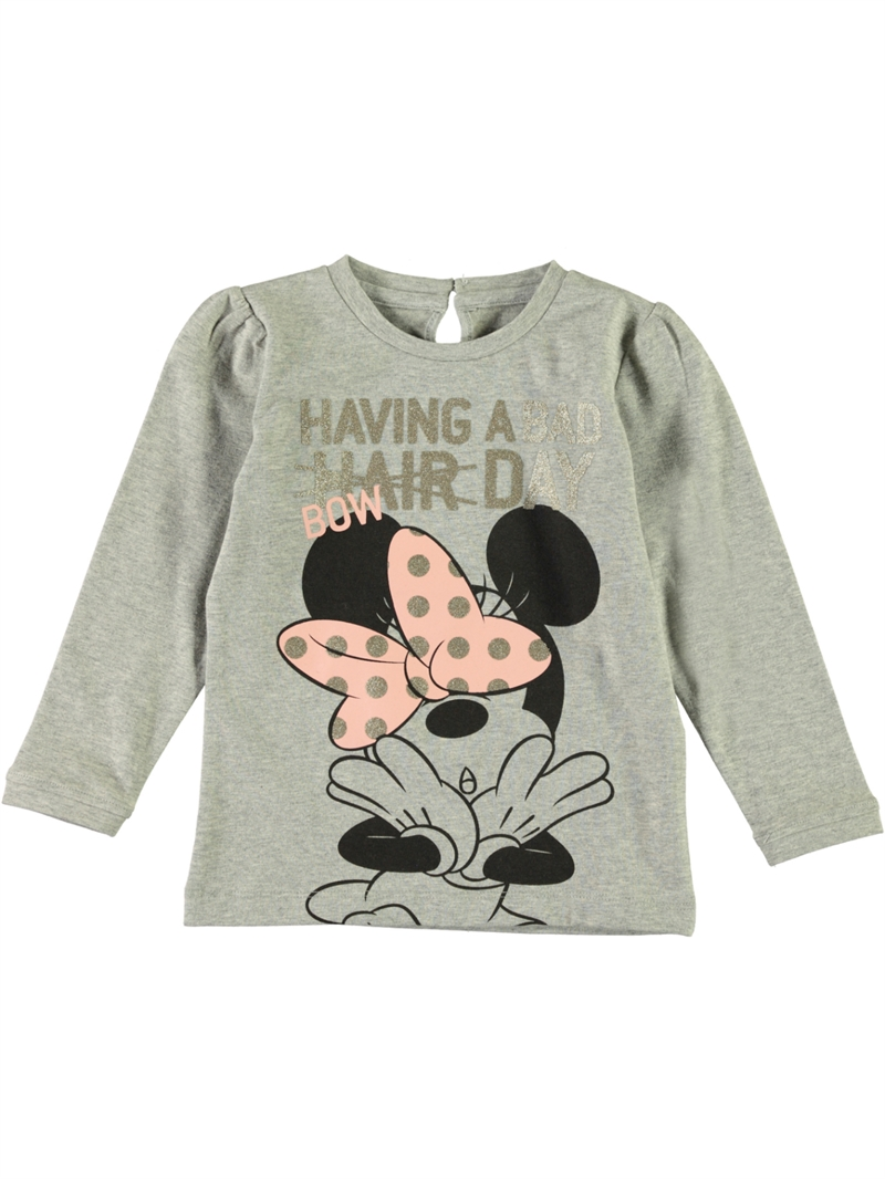 Minnie Sofia Ls Top Mini Grey Melange Name It