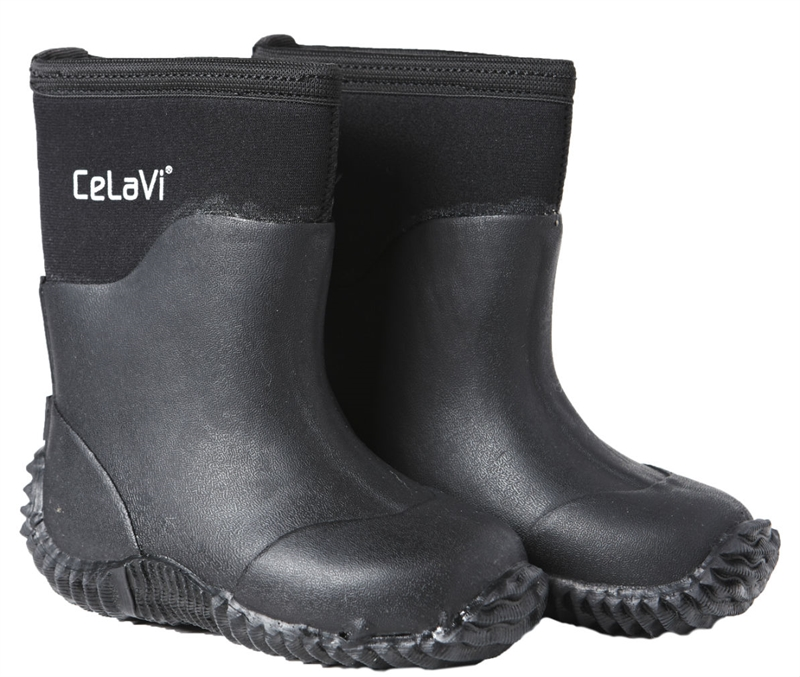 Neoprene Boot Black Fodrad Stövel Barn