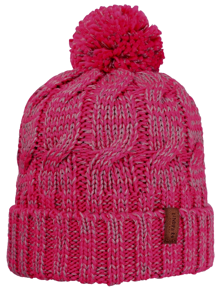 Nightlight reflective hat Cerise Grey Stickad Mössa Barn Lindberg