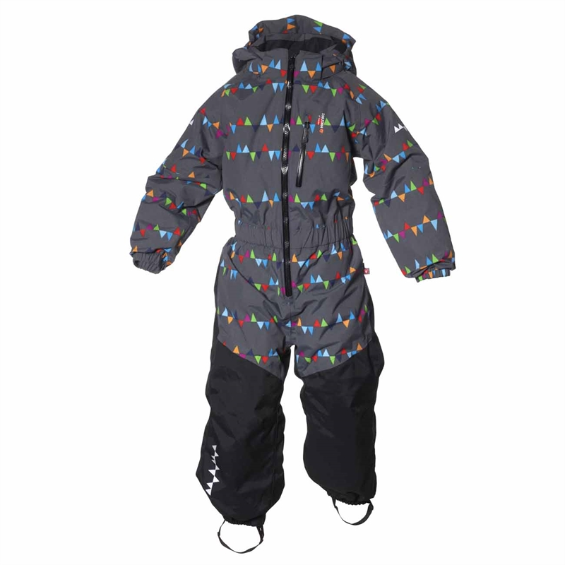 Penguin Winter Jumpsuit Peaks Grey Vinteroverall Barn Isbjörn Of Sweden