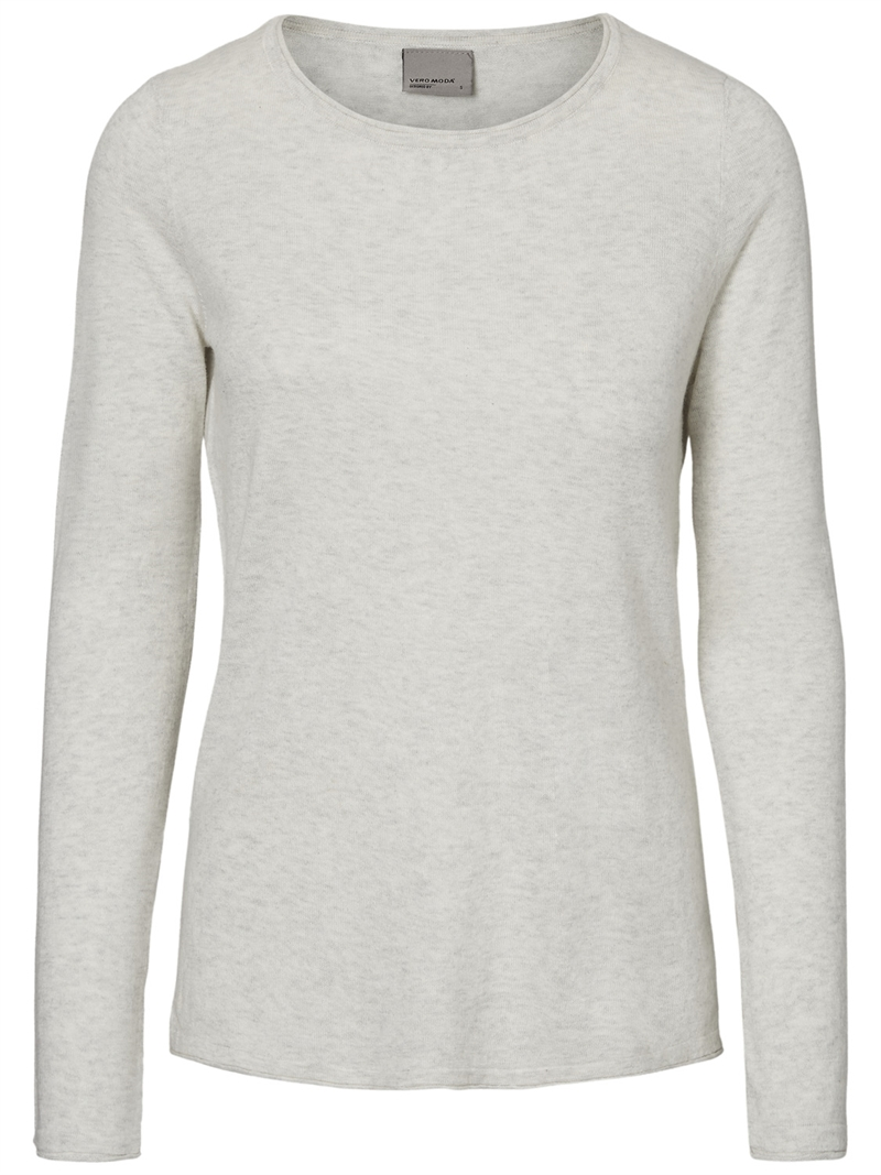 dam mode sofia ls botaneck blouse light grey melange vero moda
