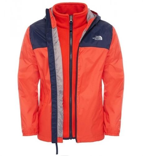 The North Face Elden Boys Rain Triclimate Jacket Fiery Red Skaljacka Barn