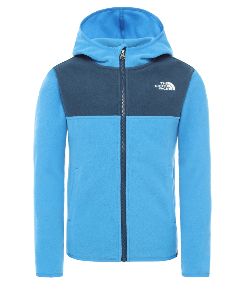 The North Face Glacier Fleece Hoodie Junior Blå (1)