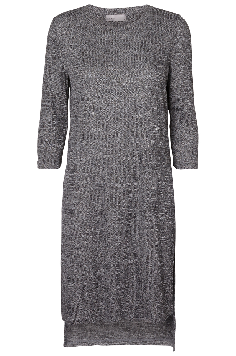 Famous Rib Long Slit Medium Grey Melange Topp Dam Vero Moda