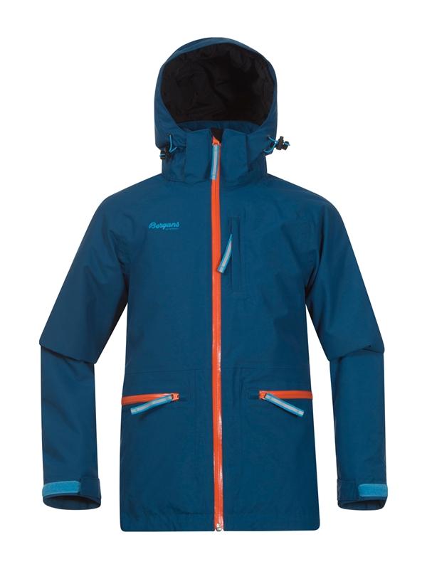 new arrivals cbea8 6a87c Alme Insulated Youth Jacket Deep Sea Koi Orange Bright Blue Sea