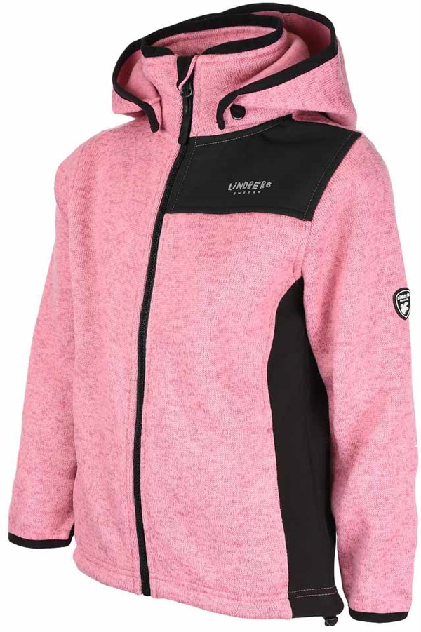 Bormio Jacket Rosa Stickad Fleecejacka Barn Junior Lindberg