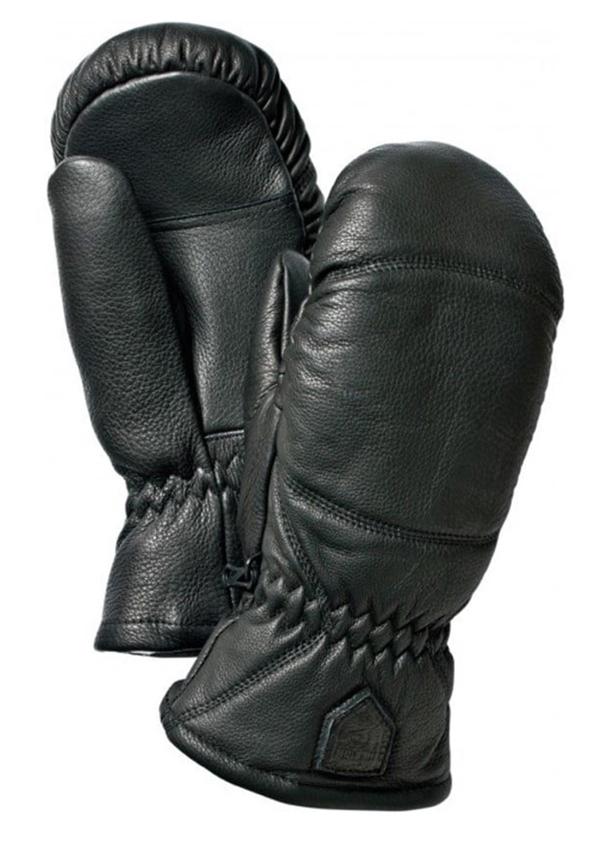 Leather Box Mitten Svart Lädervante Hestra 111483ba68c1e