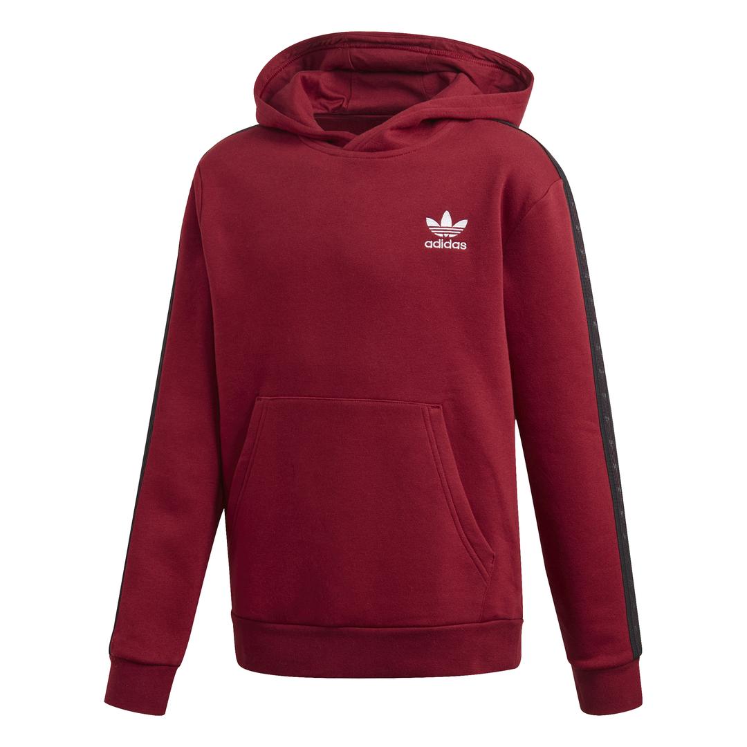 Storbritannien billig försäljning bästa online Rimligt prissatt Adidas Tape Hoodie Junior Vinröd - SMILE.