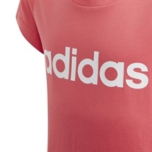 Adidas Essentials T-shirt Junior Rosa logga