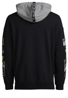Badge Hoodie Svart Herr Jack & Jones back