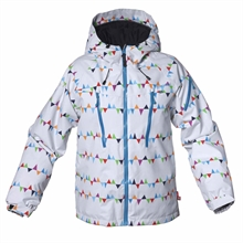Carving Winter Jacket Peaks White Vinterjacka Junior Isbjörn Of Sweden