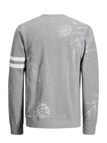 Christian Sweat Crew Neck Light Grey Melange Jack & Jones Back