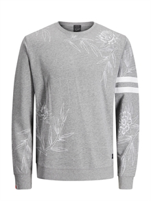 Christian Sweat Crew Neck Light Grey Melange Jack & Jones