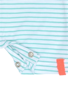 Derry Ss Sunsuit NB Aqua Haze gren