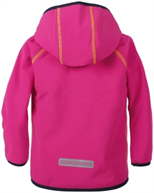 Elmån Kids Softshell Jacket Fuchsia Barn Didriksons Back