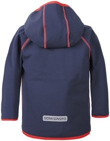 Elmån Kids Softshell Jacket Navy Barn Didriksons Back