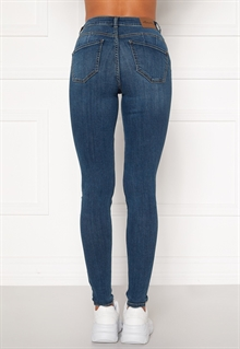 Happy Holly Amy Push Up Jeans Dam Mellanblå (1)