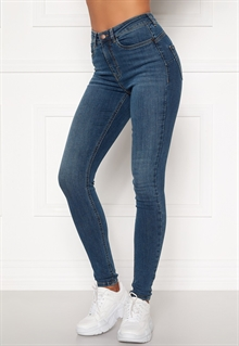 Happy Holly Amy Push Up Jeans Dam Mellanblå (2)