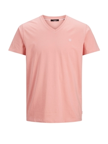 Jack & Jones World V-ringad T-shirt Herr Rosa