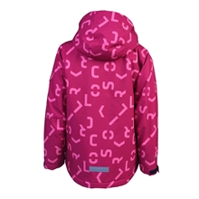 Kerto Softshell  Rasberry Softshelljacka Barn Color Kids Baksida
