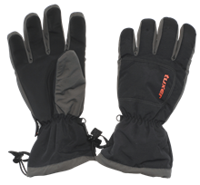 Maps Glove Unisex Black