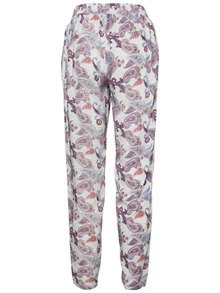Now Nw Loose Pant Snow White Oline Print Vero Moda back