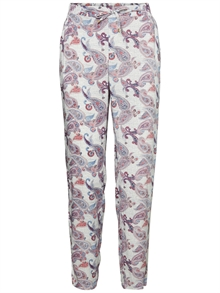 Now Nw Loose Pant Snow White Oline Print Vero Moda