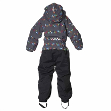Penguin Winter Jumpsuit Peaks Grey Vinteroverall Barn Isbjörn Of Sweden Baksida