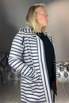 Stripe Jacket Snow White Black Iris Damjacka 10