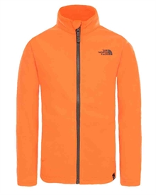 Youth Snow Quest FZ Fleece Shocking Orange Fleecejacka Barn The North Face 1