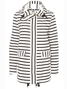Stripe Jacket Snow White Black Iris Damjacka
